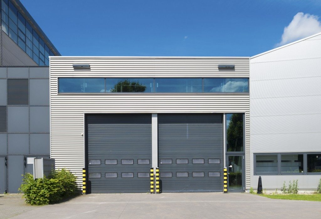 Modern industrial car garage