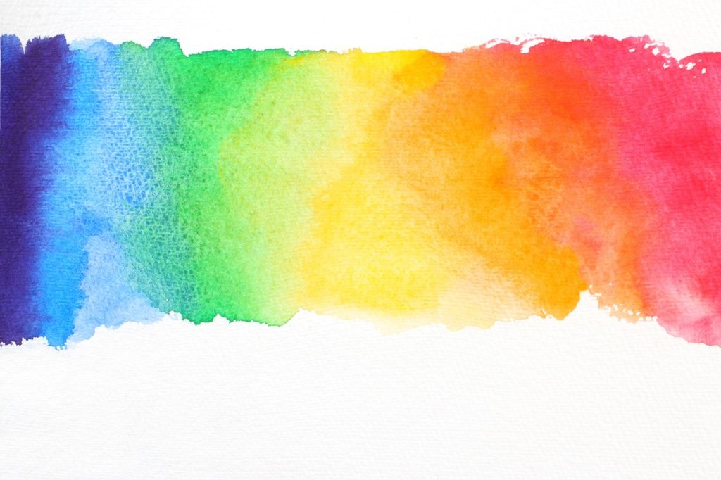 Colorful watercolor paiting