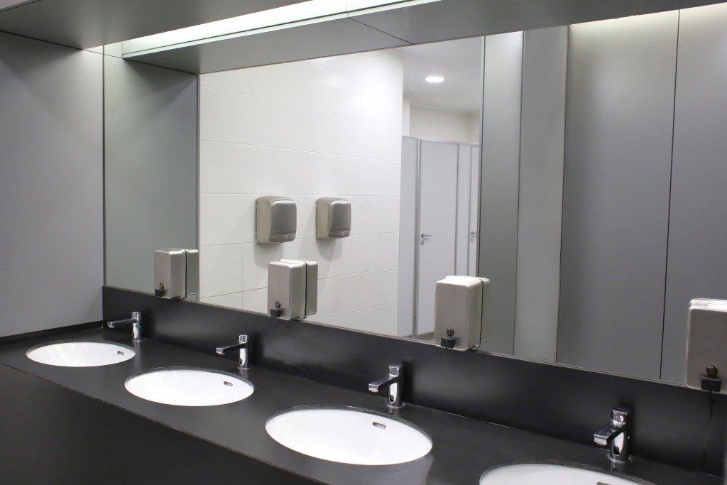 Public restroom sink