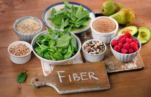 Different food rich in fiber