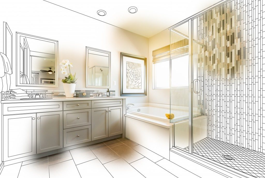 Bathroom interior planning