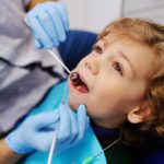 Young boy in a dental clinic