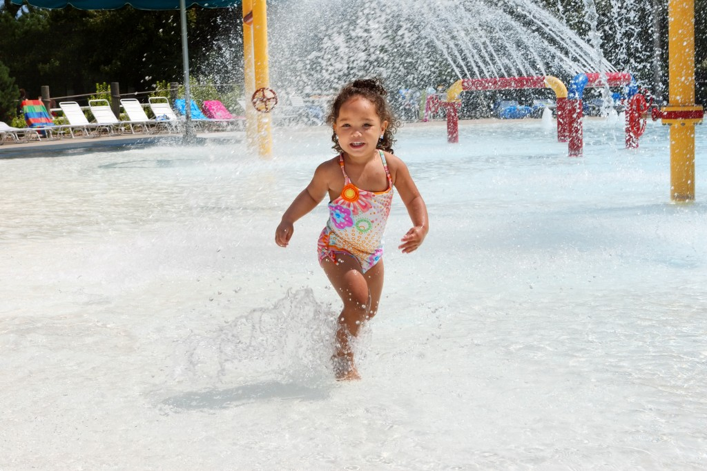 child on a swimming pool